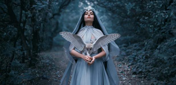 A mysterious sorceress