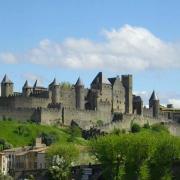 Panorama of the Cité de Carcassonne(GFDL)