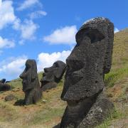 Moai at Rano Raraku, Easter Island. (Public Domain)