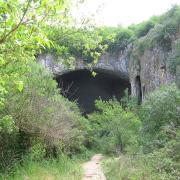 The entrance of Devetashka cave, Bulgaria. (CC BY 2.5)