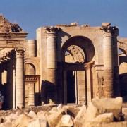 The ruins of Hatra circa 1988 (Public Domain)