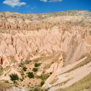 A panorama view of Aktepe Hill, a mountain north-east of Göreme in Cappadocia in Central Turkey. (CC BY-SA 3.0)
