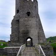 Aberystwyth Castle is located in Wales. (CC BY-SA 3.0)