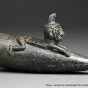 Vessel in the form of a man on a reed raft