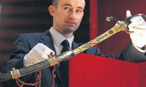 Napoleon's gold-encrusted sword.