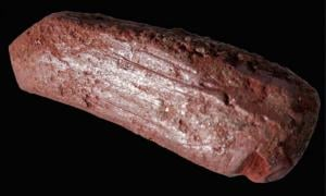 An ochre crayon thought to have been used to draw on animal skins 10,000 years ago.