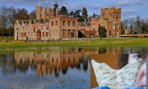 Oxburgh Hall where the trove of 15th century treasures were recently discovered in the attic. Source: Martin Pettitt / CC BY-SA 2.0