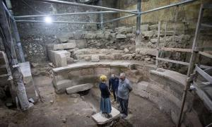 Theater-like structure found at the Western Wall Tunnels, Jerusalem (Image: Israel Antiquities)