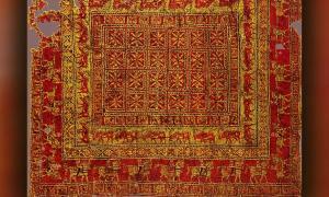 A photo of the Pazyryk Carpet