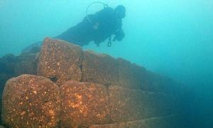 3,000-year-old remains of a castle at the bottom of Lake Van in Turkey.