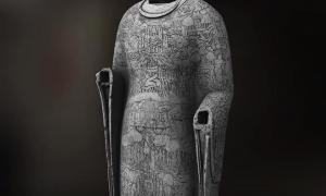 3D scans showed previously unreadable scenes carved into the Buddha's robe.