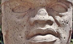 San Lorenzo Colossal Head 1, Olmec culture, Museo de Antropología de Xalapa, Mexico.