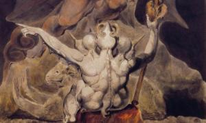 Detail of 'The Number of the Beast is 666' (1805) by William Blake. Source: Public Domain
