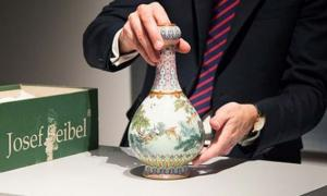 The Qing dynasty period porcelain vase