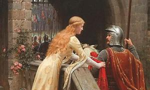 'God Speed' (1900) by Edmund Leighton. (Deriv.)