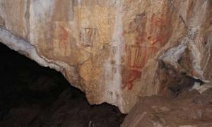 Paintings in the Kapova cave (Southern Urals).