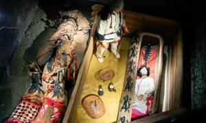 A mannequin - an exact replica - is displayed in the museum but on 'special occasions' VIPs would be 'provided the opportunities to see the real mummy'.