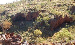 The Aboriginal rock shelters at Juukan Gorge sits about 60km north-west of the remote Pilbara mining town of Tom Price.       Source: Puutu Kunti Kurrama And Pinikura Aboriginal Corporation