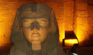 Part of an ancient Egyptian statue