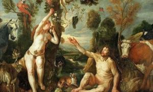 Adam and Eve (1640s) by Jacob Jordaens.