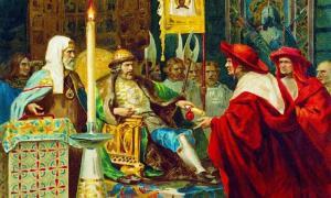 Prince Alexander Nevsky receiving papal legates. Source: Shakko / Public Domain.