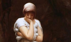 Detail of 'Solitude' (circa 1890) by Frederic Leighton, 1st Baron Leighton.