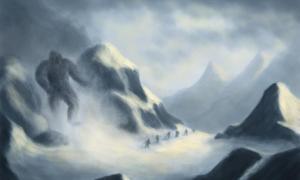 Artist Illustration of a Yeti.