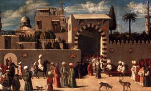 Anonymous Venetian Orientalist painting, The Reception of the Ambassadors in Damascus, 1511, the Louvre.