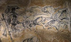 The charcoal drawings found at Chauvet show a high degree of detail. Copy of the Lions Panel of the Chauvet Cave.