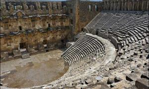 The theatre at Aspendos, Turkey is famous for its magnificent acoustics. Even the slightest sound made at the center of the orchestra can be easily heard as far as the upper most galleries. It is the best preserved and most complete example of a Roman theatre.