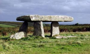 Lanyon Quoit. Used as the overriding image of ancient Cornwall and also known as the Giant's Table