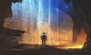 Concept art of an ancient astronaut (grandfailure / Adobe Stock)