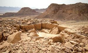 Ancient Copper Strip-mine north of Mt. Michrot