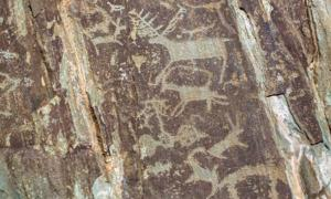 Ancient art in the Altai Mountains, Russia. While the world's best-known cave art exists in France and Spain, examples of it abound throughout the world.