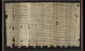 Papyrus; Hieratic legal text recto (2 columns) and verso (2 columns), recording complaint by Amennakht to the Vizier about the actions of Paneb.
