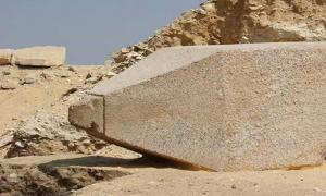 The newly-discovered obelisk in Cairo, dedicated to an Old Kingdom Queen.