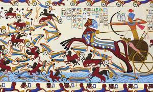 Ahmose I against Hyksos.   Source: Public Domain