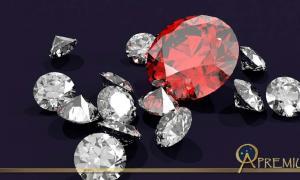 Diamonds and ruby.