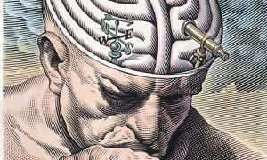 'The gyri of the thinker's brain as a maze of choices in biomedical ethics.' (Deriv.) An ancient Greek memory technique suggests imagining a pathway through a location to remember important information.