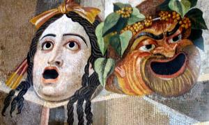Tragic Comic Masks Hadrian's Villa mosaic