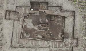 Aerial view of the ancient Inca cemetery recently discovered in Ecuador.