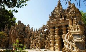 The Palais Idéal, a stone palace created by French postman Ferdinand Cheval.