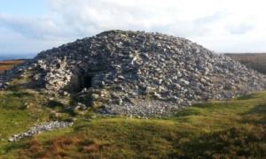 Cairn K -- Part of a 5000 years-old Passage Tomb Complex at Carrowkeel in County Sligo in the north-west of Ireland