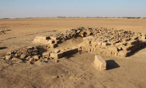 One of 16 pyramids uncovered in a cemetery in the ancient town of Gematon in Sudan. The pyramid likely rose more than 39 feet (12 meters) in height.