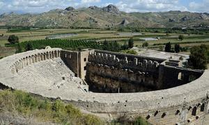 The famous Roman theater at Aspendos, Turkey.