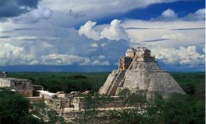 The grand pyramid of the Maya at Uxmal