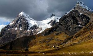 Hillside of Peruvian Ausangate mountain