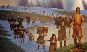 First Americans, photo of mural in the Page Museum, Los Angeles by Travis S.