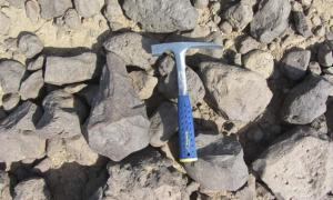 A large hand axe found in the Wadi Dadsa.