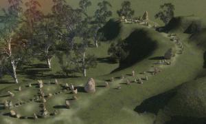 omputer image of Australia's Stonehenge Site, Mullumbimby NSW by Richard Patterson.